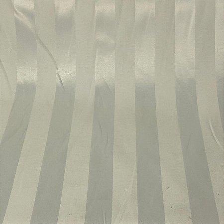 Tecido Jacquard Listrado Branco