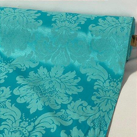 Tecido Jacquard Arabesco Azul
