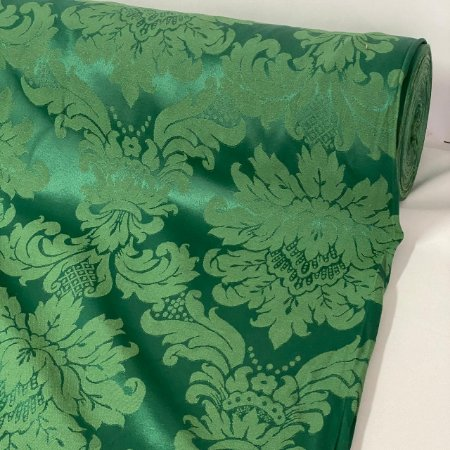 Tecido Jacquard Arabesco Verde