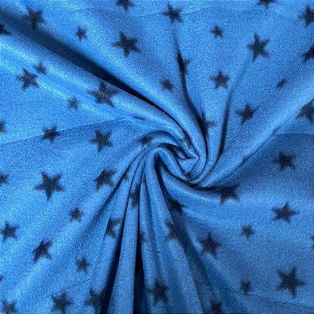 Soft Estampado Estrelas Fundo Azul