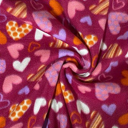 Soft Estampado Corações Rosa