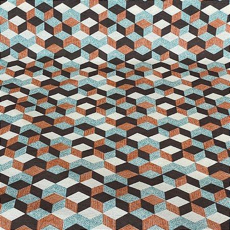 Gorgurão Impermeável Geométrico Colorido