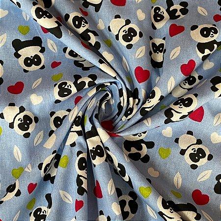 Tricoline Estampada Urso Panda