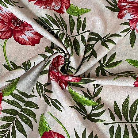 Percal Estampado Floral Clássico