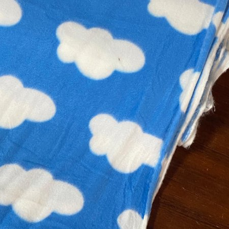 Soft Estampado Núvens Fundo Azul