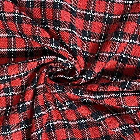 Flanela Xadrez Clássica Vermelha