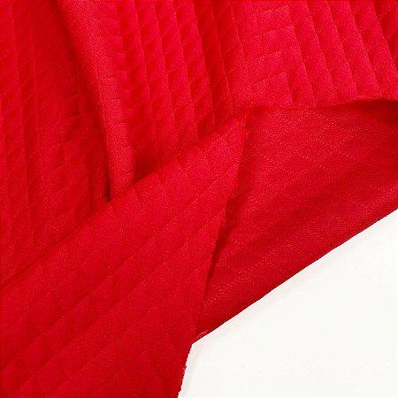 Malha Matelassê Vermelha