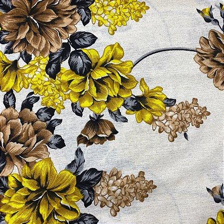 Gorgurão Floral Amarelo
