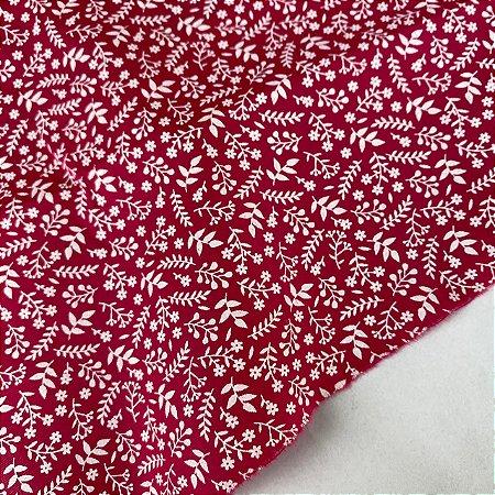 Tricoline Estampada Ramado Branco Fundo Pink