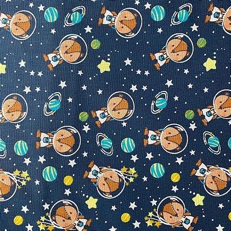 Tricoline Estampada Esquilos Astronautas