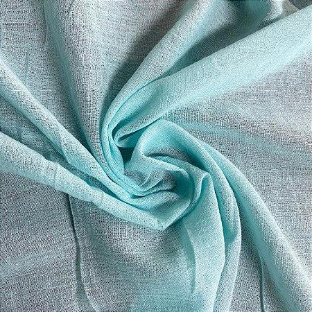 50 Metros - Crepe de Algodão Azul Tiffany