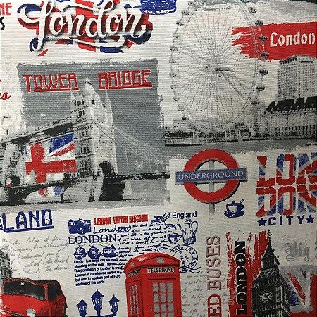 Gorgurão Belize Estampado Londres
