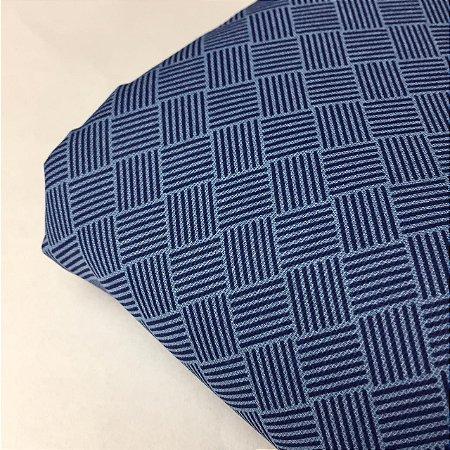Tricoline Estampada Seis Linhas Azul