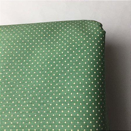 Tricoline Estampada Poá Pequeno Verde