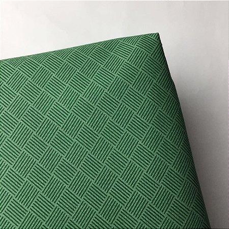 Tricoline Estampada Seis Linhas Verde