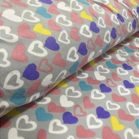 Soft Estampado Corações Coloridos