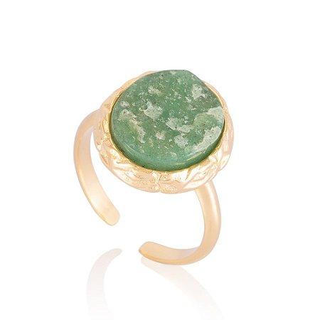 Anel Miami 418 Ouro Quartzo Verde