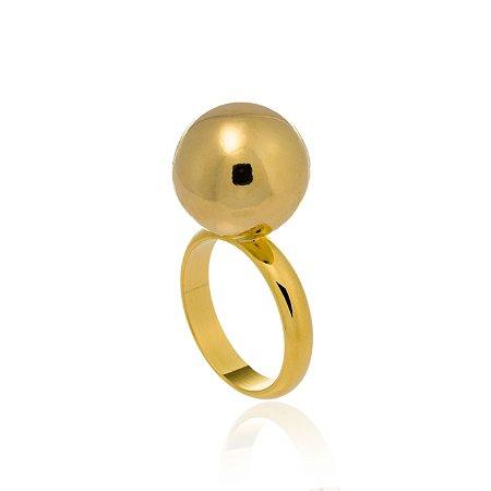 Anel Bubbles Ouro Polido