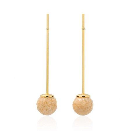 Brinco Bubbles 672 Ouro Amazonita Nude