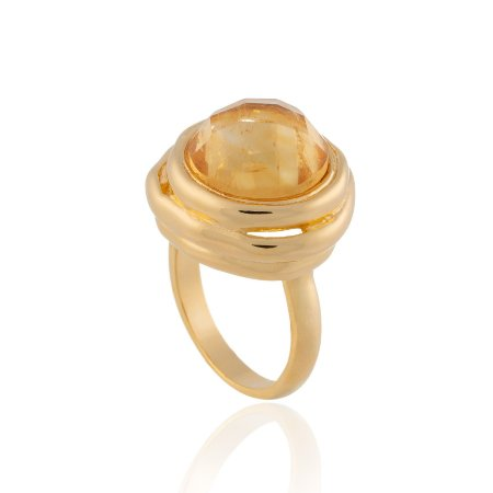 Anel Delaunay 353 Ouro Citrino