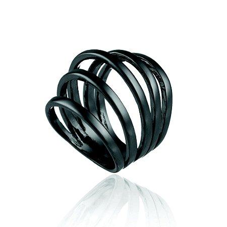 Anel Clássicos Delaunay 355 Ródio Negro