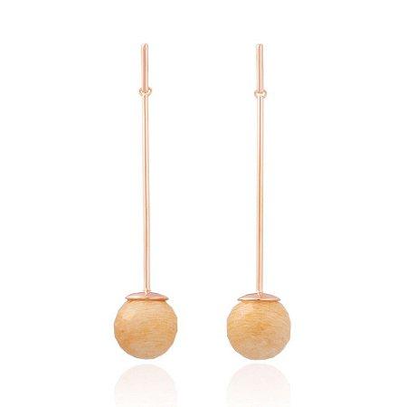 Brinco Bubbles 672 Ouro Rosé Amazonita Nude