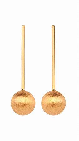 Brinco Bubbles 21 Ouro Rosé Escovado