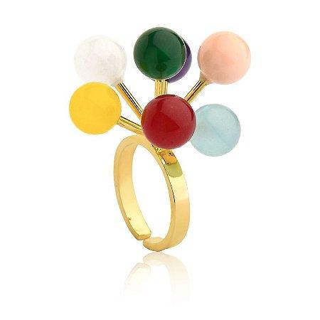Anel Bubbles Deserto 382 Ouro Color
