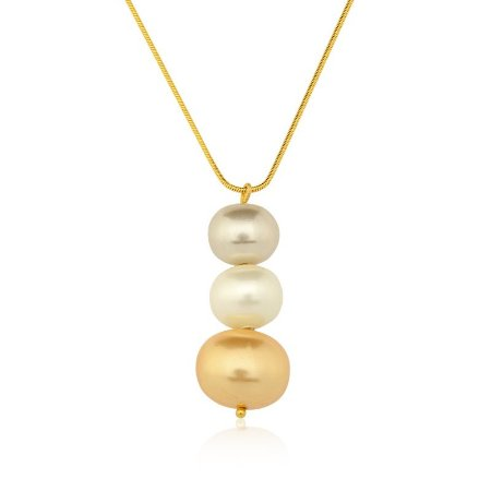 Pingente Bubbles 99 Ouro Shell