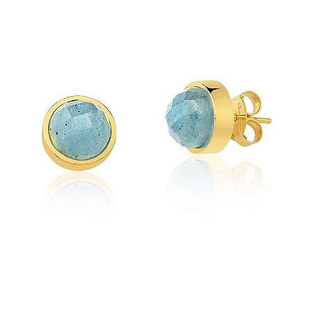 Brinco Baby Bubbles 691 Ouro Quartzo Azul