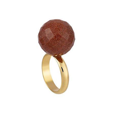 Anel Bubble 35 Ouro Pedra do Sol