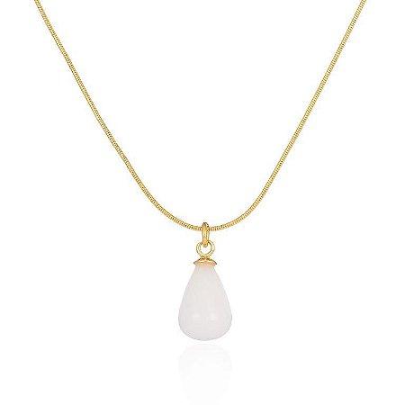 Pingente Candy 323 Ouro Quartzo Branco