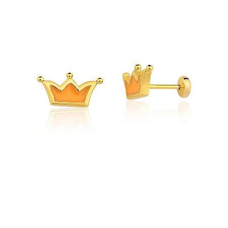 Brinco Silvinha 638 Ouro Coroa