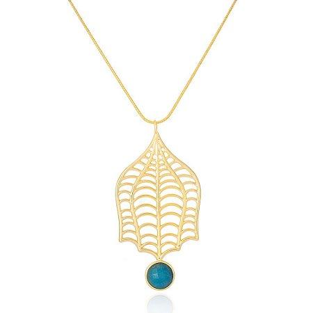 Pingente Iris 325 Ouro Medusa Quartzo Azul