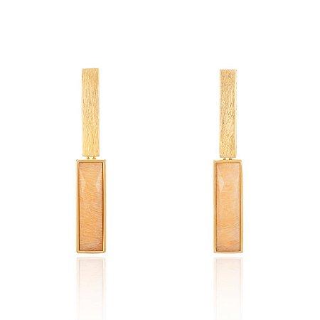 Brinco Essencial 26 Ouro Amazonita Nude