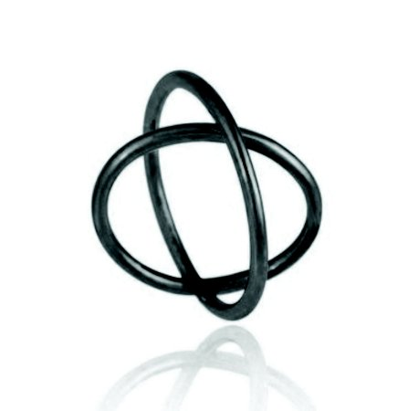 Anel Essencial  370 Ródio Negro