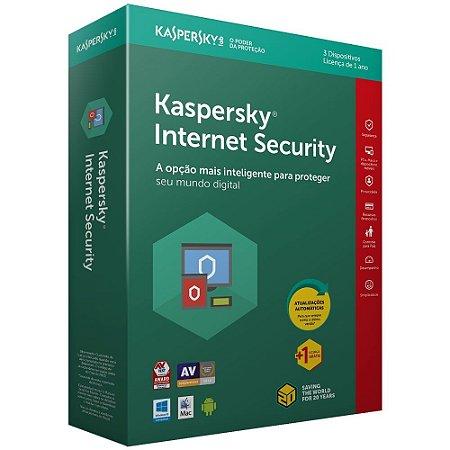 Kaspersky Internet Security 2021 - Licença - 03 PCs - 01 Ano