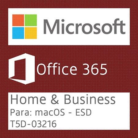 Microsoft Office 365 Home & Business - Para: macOS - Vitalício - Licença + NF-e