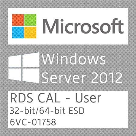 Microsoft Windows Server 2012 R2 - 50 RDS CAL - User - Licença + NF-e