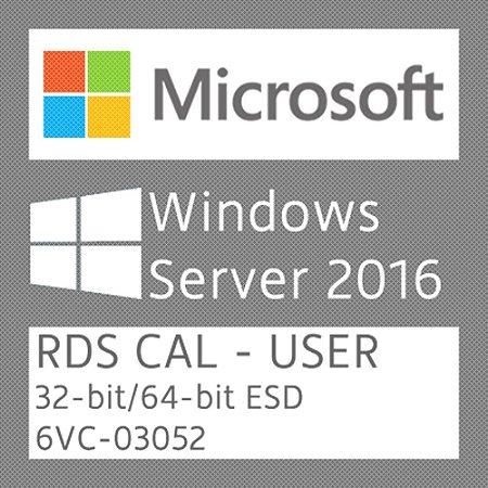 Microsoft Windows Server 2016 - 50 RDS CAL - User - Licença + NF-e