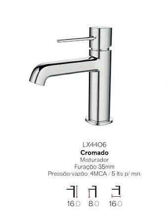 Misturador monocomando bica baixa para lavatório LX4406 - Lexxa