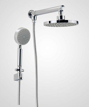Chuveiro redondo Slim 20 cm com ducha manual 1977 - Perflex