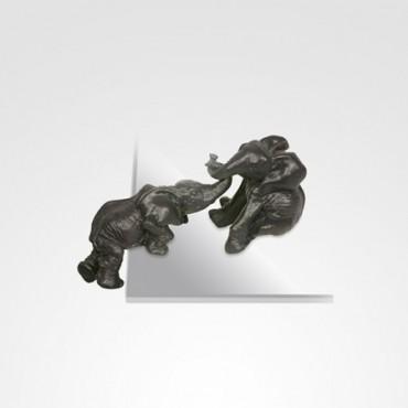 Escultura Elefantes escalando (par)