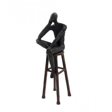 Escultura Homem no banco P