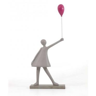 Escultura Menina balão pink