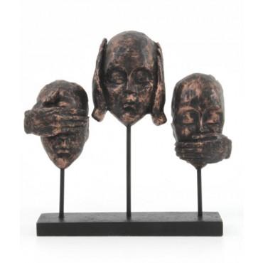 Escultura Trio silencioso