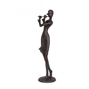 Escultura Flautista em pé