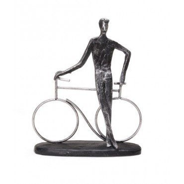 Escultura Bike man estacionado