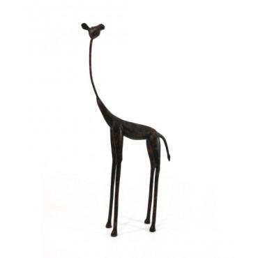 Escultura Girafa africana GD - Cor ferro