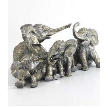Escultura Manada Elefantes